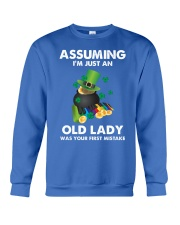 Assuming I'm Just an Old Lady Your First Mistake Crewneck Sweatshirt thumbnail