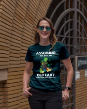 Assuming I'm Just an Old Lady Your First Mistake Premium Fit Ladies Tee lifestyle-women-crewneck-front-2
