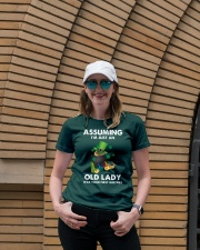 Assuming I'm Just an Old Lady Your First Mistake Premium Fit Ladies Tee lifestyle-women-crewneck-front-4