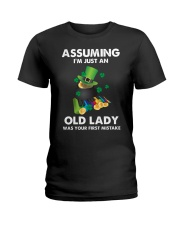 Assuming I'm Just an Old Lady Your First Mistake Ladies T-Shirt thumbnail