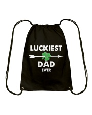 Luckiest Dad ever Drawstring Bag thumbnail