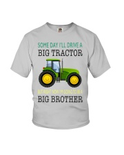 Toddler big brother Shirt with Tractor Youth T-Shirt front
