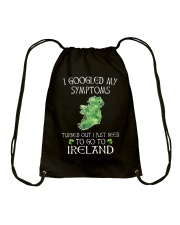 I Googled My Symptoms Ireland Drawstring Bag thumbnail