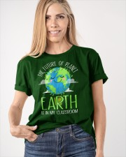 Earth Day Teachers 2021 Classroom Funny T-Shirt Classic T-Shirt apparel-classic-tshirt-lifestyle-front-100