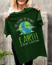Earth Day Teachers 2021 Classroom Funny T-Shirt Classic T-Shirt apparel-classic-tshirt-lifestyle-front-117
