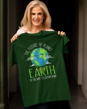 Earth Day Teachers 2021 Classroom Funny T-Shirt Classic T-Shirt apparel-classic-tshirt-lifestyle-front-118