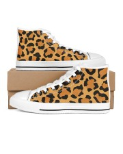 Leopard Collection Women's High Top White Shoes thumbnail