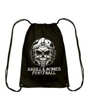 Skull and Bones Football Drawstring Bag thumbnail