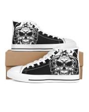 Skull and Bones Football Women's High Top White Shoes thumbnail