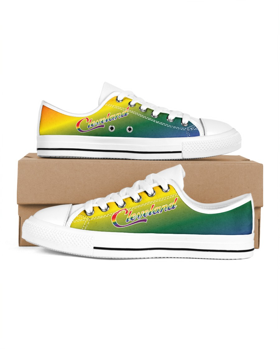 Women's Cleveland Pride Low Top Shoes Women's Low Top White Shoes