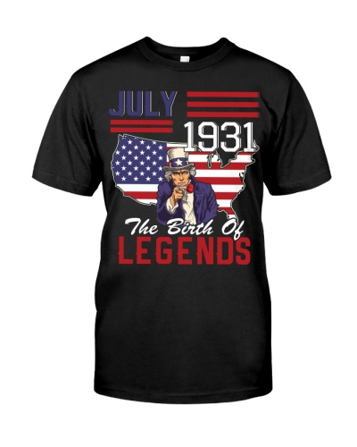 legends are born in july 1931
