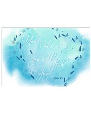 Psalm 91:4 17x11 Poster front