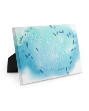 Psalm 91:4 10x8 Easel-Back Gallery Wrapped Canvas thumbnail