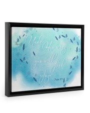 Psalm 91:4 14x11 Black Floating Framed Canvas Prints thumbnail