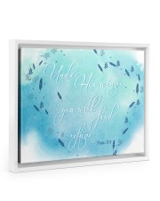Psalm 91:4 14x11 White Floating Framed Canvas Prints thumbnail