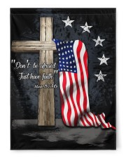 "Don't be afraid just have faith 29.5""x39.5"" House Flag front"