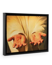 Give me your hand 14x11 Black Floating Framed Canvas Prints thumbnail