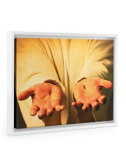 Give me your hand 14x11 White Floating Framed Canvas Prints thumbnail