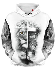 Let Your Faith Be Bigger Than Your Fear Men's All Over Print Hoodie aos-men-hoodie-ghosted-front-03