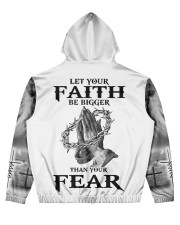 Let Your Faith Be Bigger Than Your Fear Men's All Over Print Hoodie back