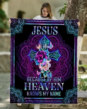"""Jesus Because of Him Heaven Knows My Name Quilt 50""""x60"""" - Throw aos-quilt-50x60-lifestyle-front-01"""