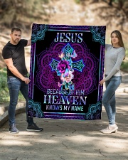 """Jesus Because of Him Heaven Knows My Name Quilt 50""""x60"""" - Throw aos-quilt-50x60-lifestyle-front-02"""