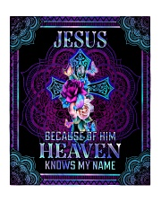 """Jesus Because of Him Heaven Knows My Name Quilt 50""""x60"""" - Throw front"""
