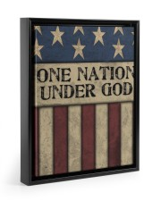 One Nation Under God 11x14 Black Floating Framed Canvas Prints thumbnail