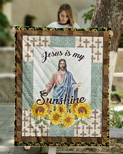 "Jesus Is My Sunshine Quilt 50""x60"" - Throw aos-quilt-50x60-lifestyle-front-01"