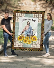 "Jesus Is My Sunshine Quilt 50""x60"" - Throw aos-quilt-50x60-lifestyle-front-02"