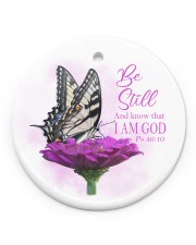 Be still And know that I Am GOD  Circle ornament - single (porcelain) front