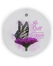 Be still And know that I Am GOD  Circle Ornament (Wood tile