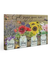 God says you are 30x20 Gallery Wrapped Canvas Prints thumbnail