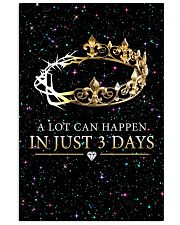 A LOT CAN HAPPEN IN JUST 3 DAYS 16x24 Poster front