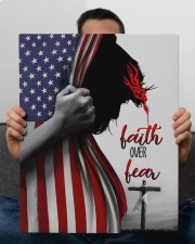 Faith Over Fear 16x20 Gallery Wrapped Canvas Prints aos-canvas-pgw-16x20-lifestyle-front-25