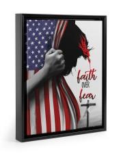 Faith Over Fear 11x14 Black Floating Framed Canvas Prints thumbnail