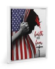 Faith Over Fear 11x14 White Floating Framed Canvas Prints thumbnail