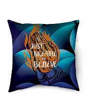 "Just Breathe and Believe Indoor Pillow - 16"" x 16"" thumbnail"