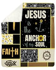 "Jesus Is The Anchor Of my Soul Sherpa Fleece Blanket - 50"" x 60"" thumbnail"