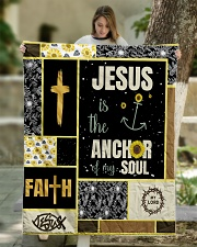 """Jesus Is The Anchor Of my Soul Quilt 50""""x60"""" - Throw aos-quilt-50x60-lifestyle-front-01"""