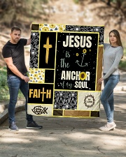 """Jesus Is The Anchor Of my Soul Quilt 50""""x60"""" - Throw aos-quilt-50x60-lifestyle-front-02"""