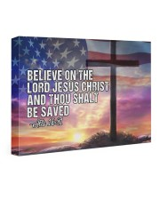 Acts 16:31 24x16 Gallery Wrapped Canvas Prints thumbnail