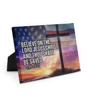 Acts 16:31 10x8 Easel-Back Gallery Wrapped Canvas front