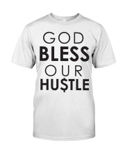 God Bless Our Hustle Premium Fit Mens Tee front