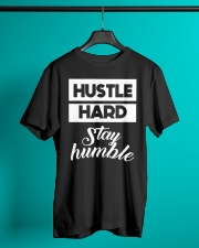 Hustle Hard Stay humble Premium Fit Mens Tee lifestyle-mens-crewneck-front-3