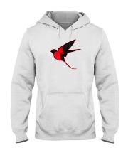Red Cardinal Bird Hooded Sweatshirt thumbnail