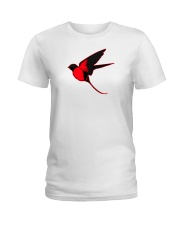 Red Cardinal Bird Ladies T-Shirt thumbnail