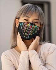 Peace Sign Heart Cloth face mask aos-face-mask-lifestyle-17
