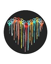 Peace Sign Heart Circle Coaster thumbnail