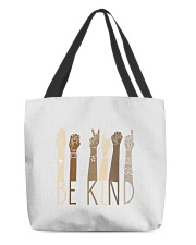 Be Kind Sign Language Hand Talking Teachers All-Over Tote tile